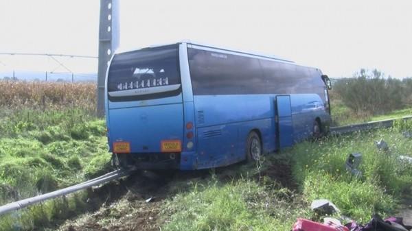 Montemor-o-Novo. Despiste de autocarro fere três passageiros