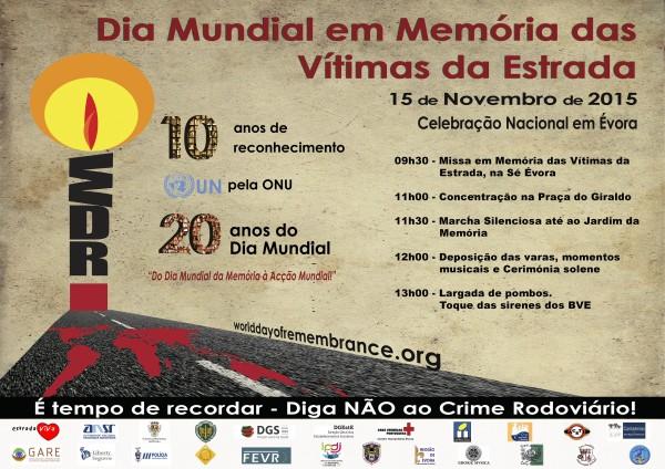 Évora. GNR Celebra Dia Mundial em Memória das Vítimas da Estrada