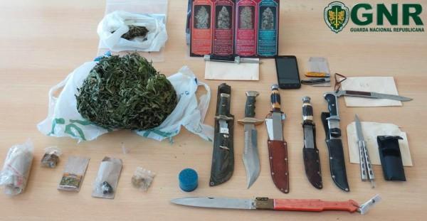 Elvas – Apreensão de droga e armas brancas